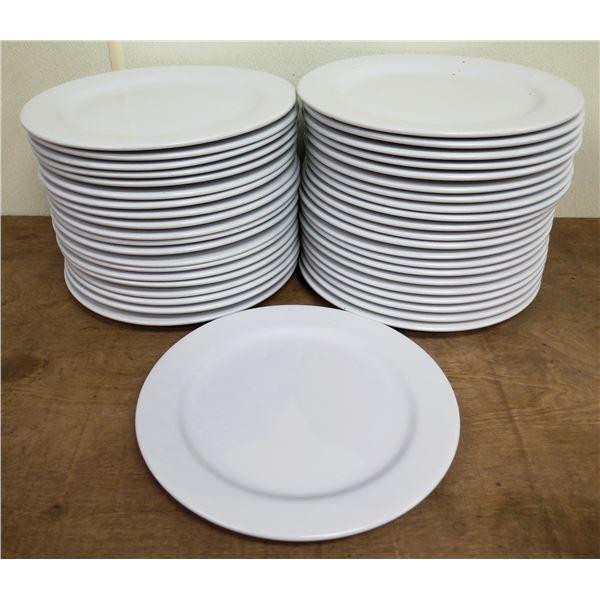 "Qty Approx. 24 Tuxton White China Dinner Plates 12"" Diameter"