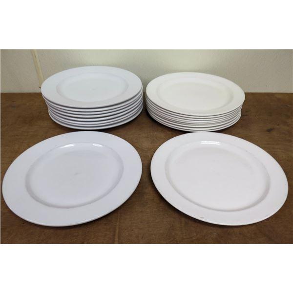"Qty Approx. 19 World Porclana & Syracuse China Dinner Plates 12"" Diameter"
