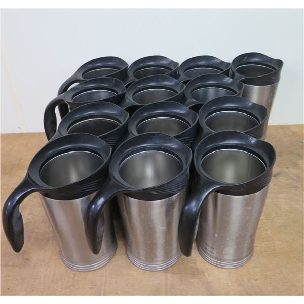 """Qty 10 Stanley Metal Thermal Insulated Coffee Pitchers Decanters 9.5""""H (No Lids)"""