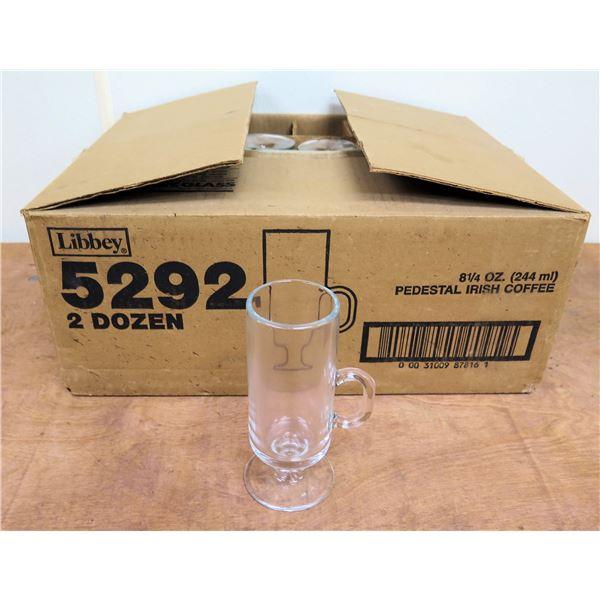 Box Qty 17 Libbey Pedestal 8.25oz Irish Coffee Glasses 5292