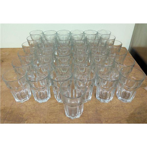 "Qty 37 Bucket Rocks Glasses 5""H x 3.5""D"