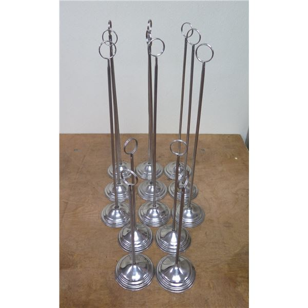 """Qty 13 Metal Tabletop Sign Holders 12'-19""""H"""