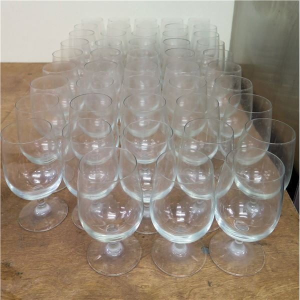 """Qty 42 Stemmed Wine or Water Glasses 6.5""""H x 3""""D"""