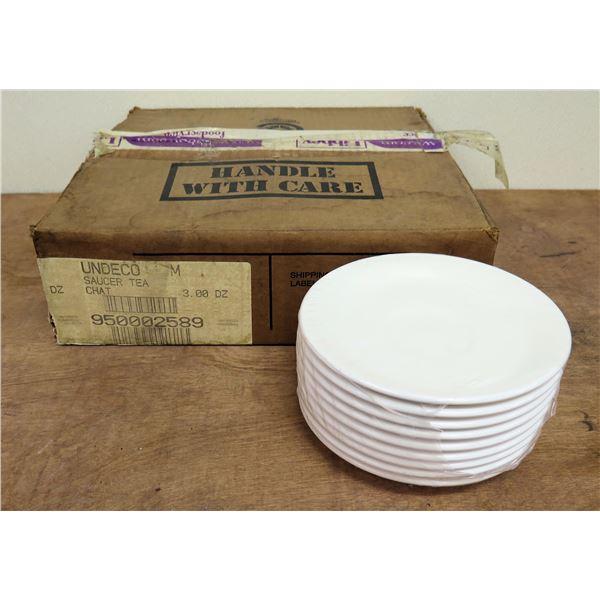 """Box Qty 36 Undeco Royal Rideau Saucer Tea Chat 6.5""""D"""
