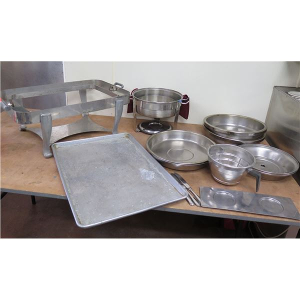 Metal Serveware: Chafing Dish Holder, Pans & Bowls, Plate Covers, Coffee Filter, etc