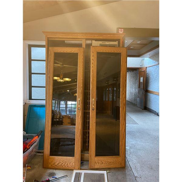 Two-Door Wine Cooler (Doors Were Removed for Easy Transport)