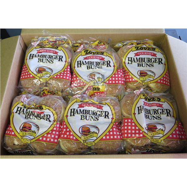 "Qty 12 Packages Love's 4.5"" Sesame Hamburger Buns (Gourmet)"