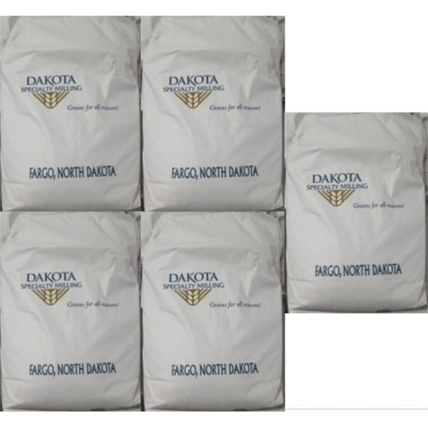 Qty 5 Dakota Specialty Milling 50-lb Light Rye Flour Bags