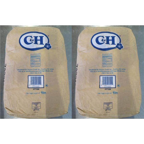 Qty 2 C&H Sugar 50-lb Powdered Sugar Bags