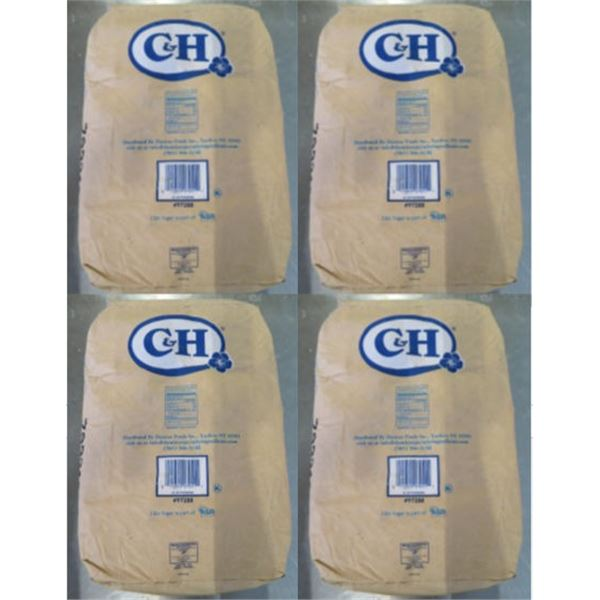 Qty 4 C&H Sugar 50-lb Powdered Sugar Bags