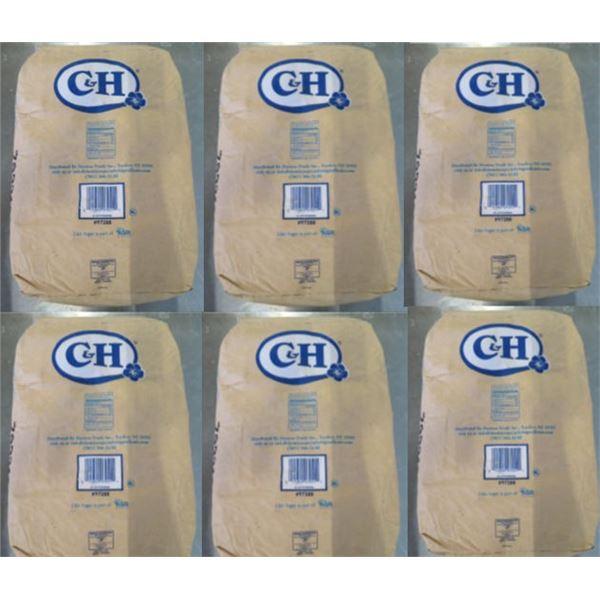 Qty 6 C&H Sugar 50-lb Powdered Sugar Bags