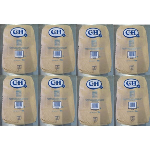 Qty 8 C&H Sugar 50-lb Powdered Sugar Bags