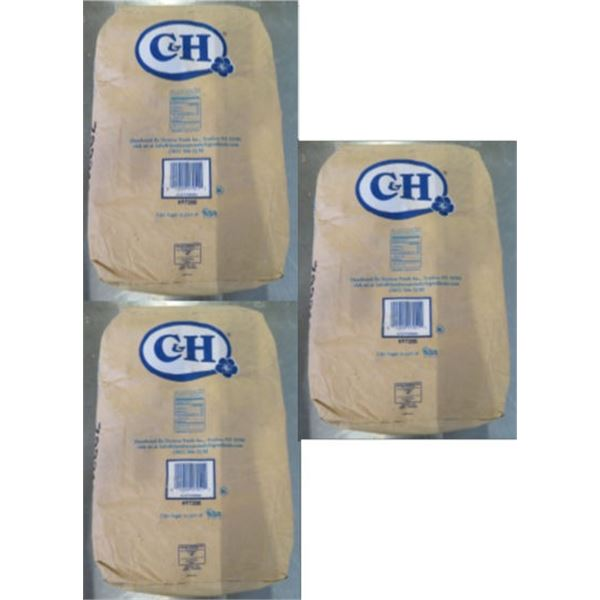 Qty 3 C&H Sugar 50-lb Powdered Sugar Bags