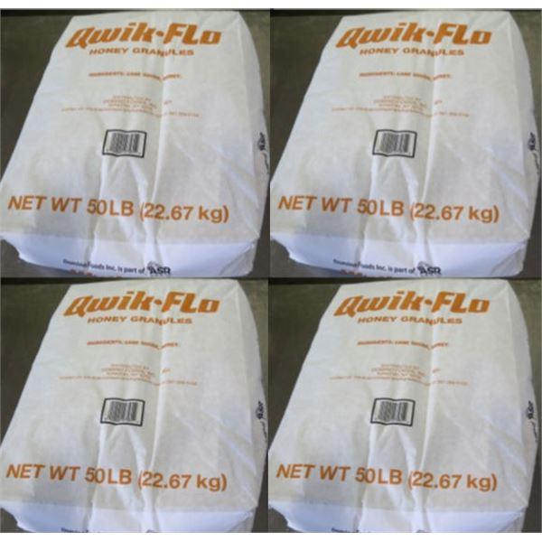 Qty 4 Domino's Food 50-lb Qwik-Flo Honey Granules Bags