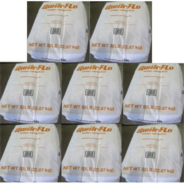Qty 8 Domino's Food 50-lb Qwik-Flo Honey Granules Bags