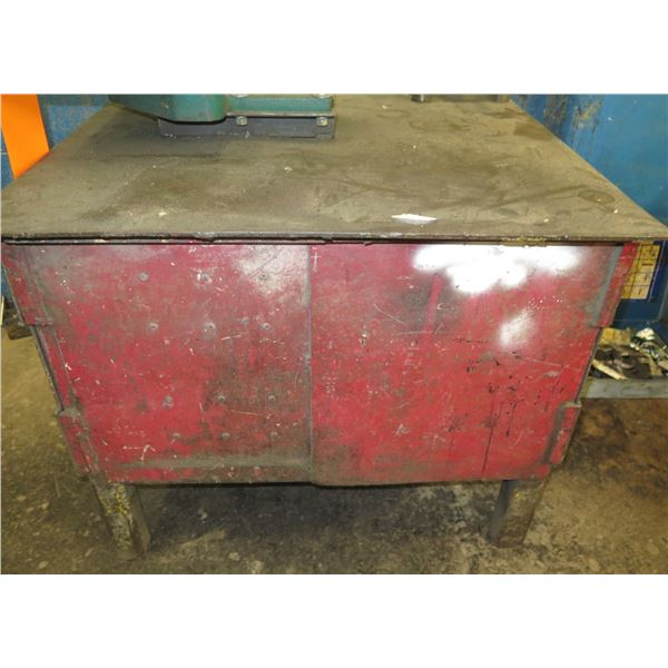 Red Metal 2 Door Storage Cabinet 42 x36 x32  Ht.