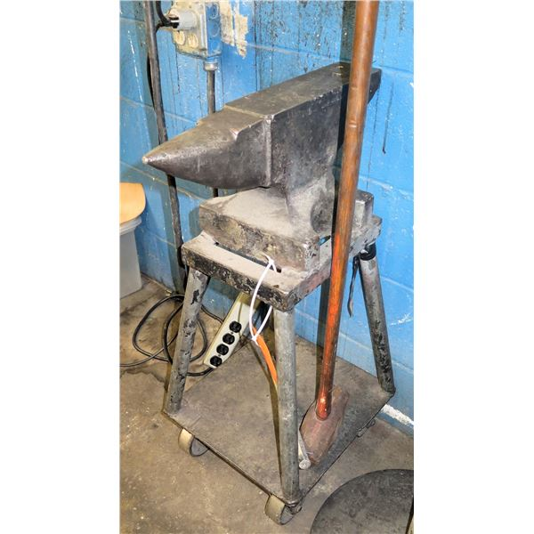 """Vulcan Anvil on Stand 15""""x33"""" Ht."""
