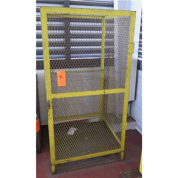 """Metal Wire Single Door Storage Cabinet 32""""x24""""x70"""" Ht."""