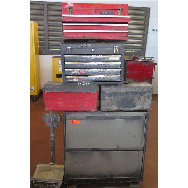 Qty 5 Misc Tool Box Storage: Husky, Craftsman, Stack-On, etc