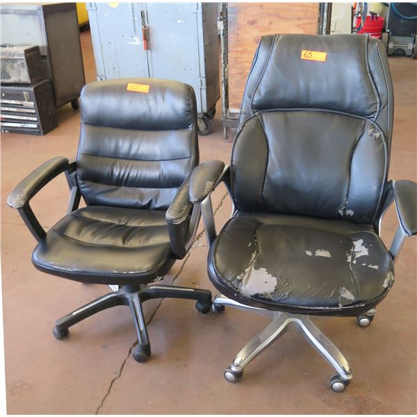 Qty 2 Rolling Office Arm Chairs