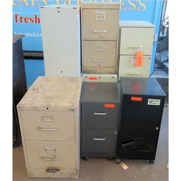 Qty 9 Misc 2 Drawer Filing Cabinets