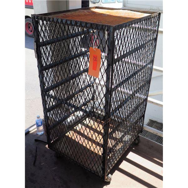 """Rolling Single Door Metal Wire Storage Cabinet 22""""x26""""x48"""""""