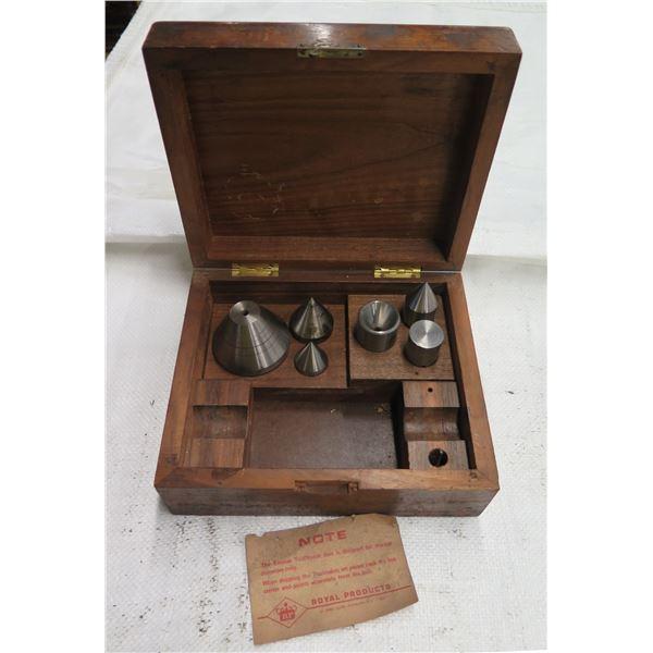 Royal Products Empire Toolmaker Box w/ Misc Metal Plumb Bobs