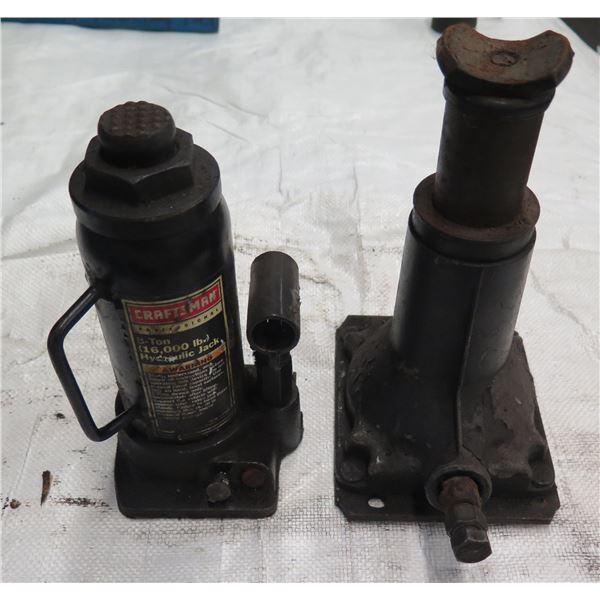 Qty 2 Bottle Jacks Craftsman 8 Ton Hydraulic