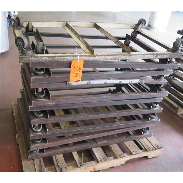 """Qty Approx. 10 Square Rolling Rack Bases 27"""" Square x 6"""" Ht."""