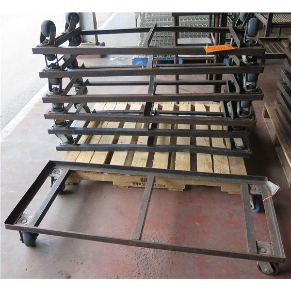 """Qty Approx. 7 Square Rolling Rack Bases 53""""x23""""x7"""" Ht."""