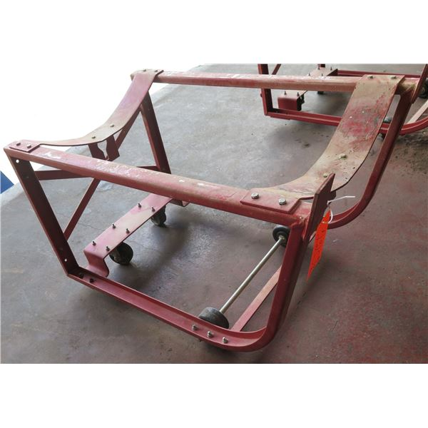 """Red Metal Drum Dolly 20""""x32""""x21"""" Ht."""