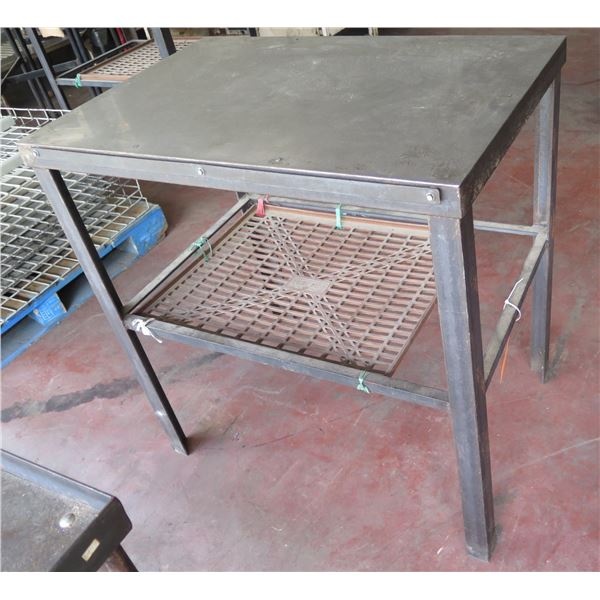 "Metal Shop Table w/ Undershelf 29""x30""x37"" Ht."