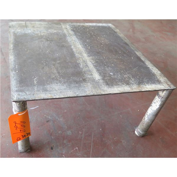 "Low Metal Shop Table 26""x26""x13"" Ht."
