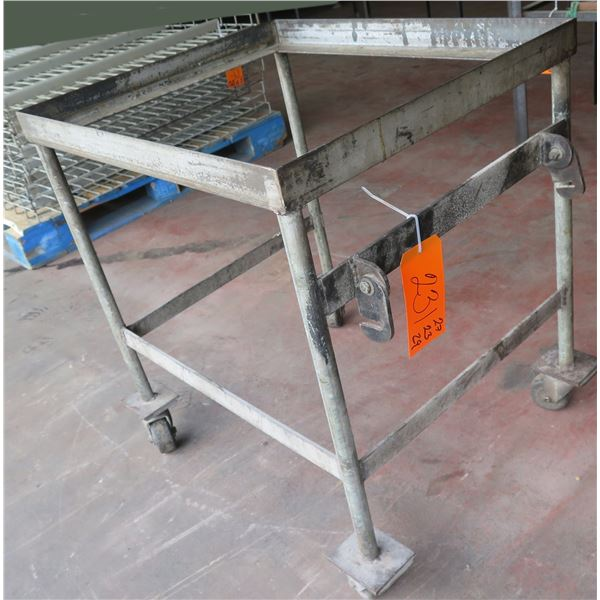 """Metal Rolling Base Stand 27""""x23""""x29"""" Ht."""