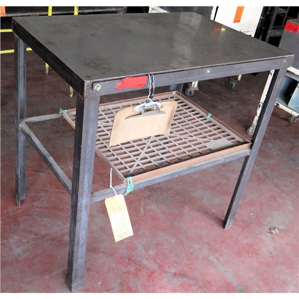 "Metal Shop Table w/ Undershelf 36""x24""x37"" Ht."