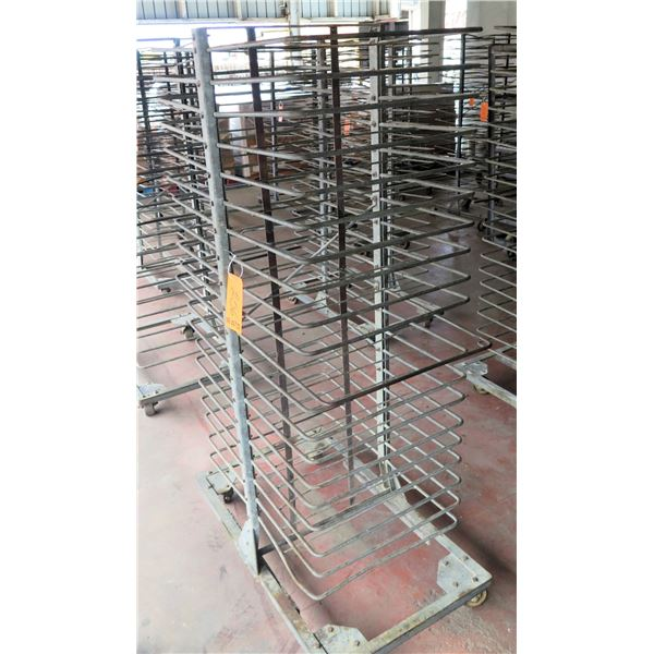"Rolling Metal Multi Tier Cooling Rack 25""x39""x72"" Ht."