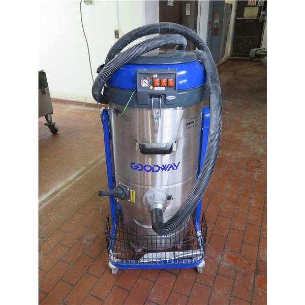 Goodway DV-3-SSH Dry Industrial Vacuum, Heavy Duty, Triple Motors, HEPA