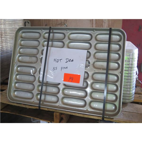 Qty 35 Hot Dog Bun Pans