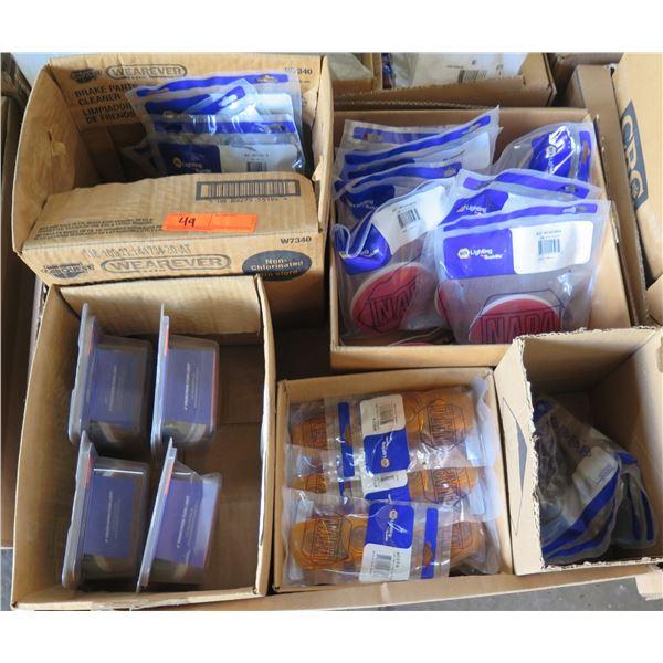 Qty 5 Boxes New NAPA Lighting, Lenses, Reflectors, etc