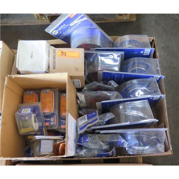 Qty 4 Boxes New NAPA Lighting, Lenses, Reflectors, etc