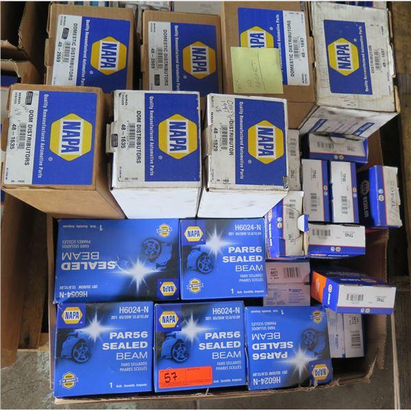 Box Multiple NAPA Par56 Sealed Beams, DOM Distributors, Ignition Control Modules, etc