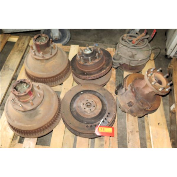 Qty 6 Brake Drums & Air Cannisters