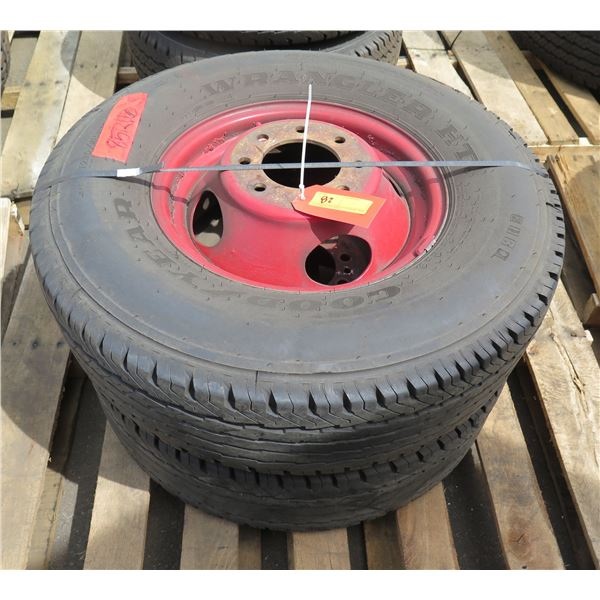 Qty 2 Used Goodyear Tires on Rims 235-85/R16