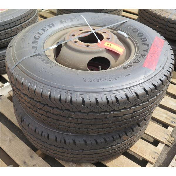 Qty 2 New Goodyear Tires on Rims 235-85/R16