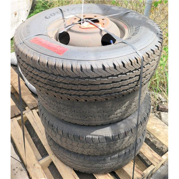 Qty 4 Used Mixed Tires on Rims