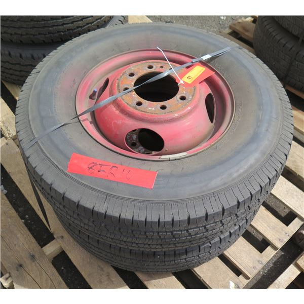 Qty 2 Used Uniroyal Tires on Rims 235-85/R16
