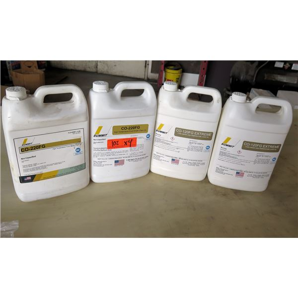 Qty 4 Gallons Summit High Temperature Food Grade Chain Oil CO-220FG