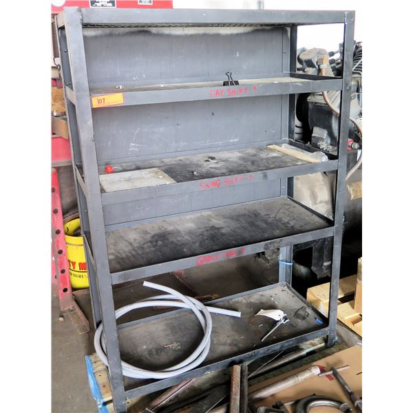 "Metal 4 Tier Warehouse Shelf Unit 37""x15""x53"" Ht."
