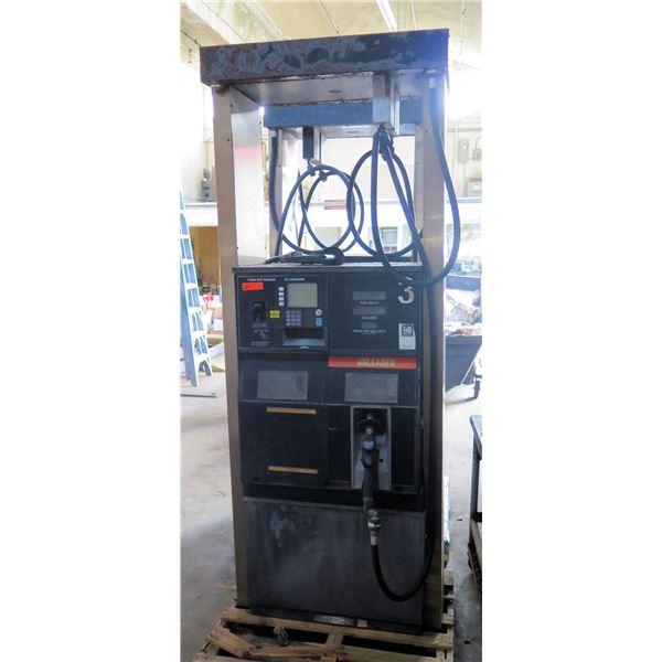 Self Serve Unleaded Automotive Fuel Pump Dispenser w/ Hose & Nozzle