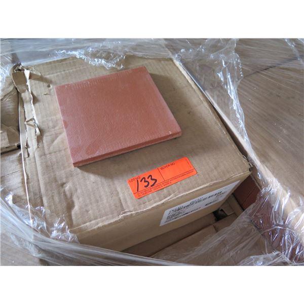"Qty 32 Boxes Red Blaze 6""x6"" Quarry Tile, 352 Square Foot"